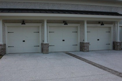 Triple Garage With Beautiful Decorative Hardware 360 Yardware