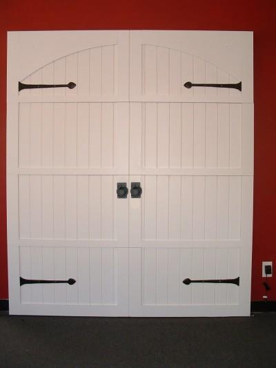 Garage Door Set Including Aspen Hinge Fronts And Ring Handle Pulls