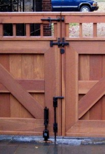 Driveway Gate With Barrel Bolt Drop Bar Gate Stop And