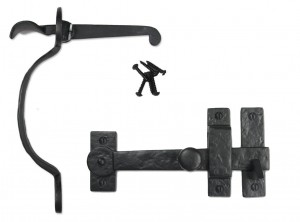Black Iron Door Hardware and Gate Hardware Thumb Latch