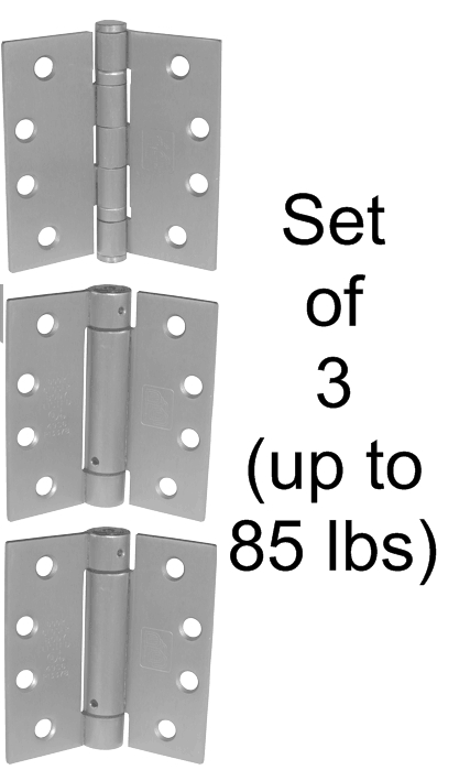Self closing gate hinge set