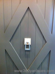 Custom Stainless Steel Barn Door Pull and other custom hardware projects by 360 Yardware
