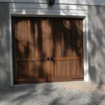 Wood Garage Door with Decorative Garage Door Hardware