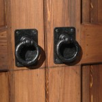 Decorative Dummy Pull Handles on Garage Door