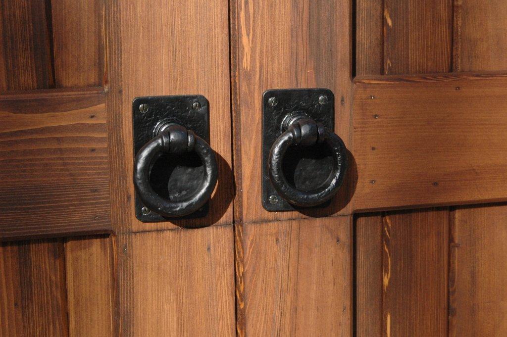 Decorative Dummy Pull Handles on Garage Door
