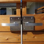 Double Contemporary Gate with Alta Stainless Steel Gate Latch