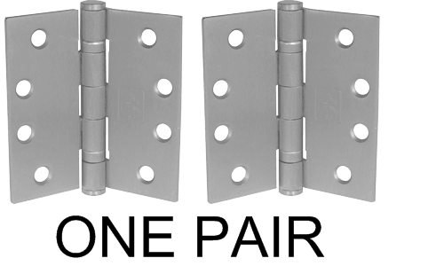 """Heavy Duty Ball Bearing 4.5"""" Stainless Steel Hinges, sold as pair"""
