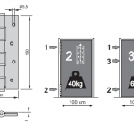 Adjustable gate spring hinges in stainless steel