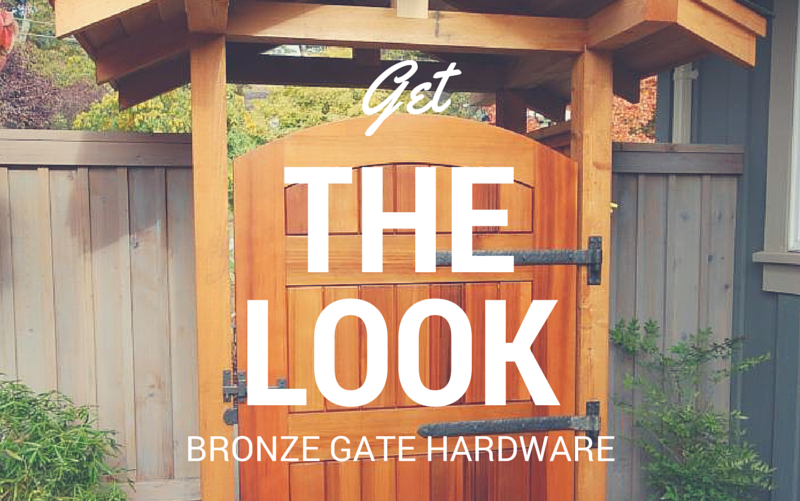 Buy a kit of bronze gate hardware