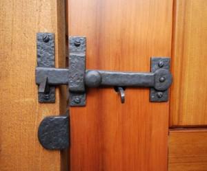 Coastal bronze hardware and gate latch