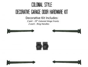 Beau Colonial Style Decorative Garage Door Hardware Kit