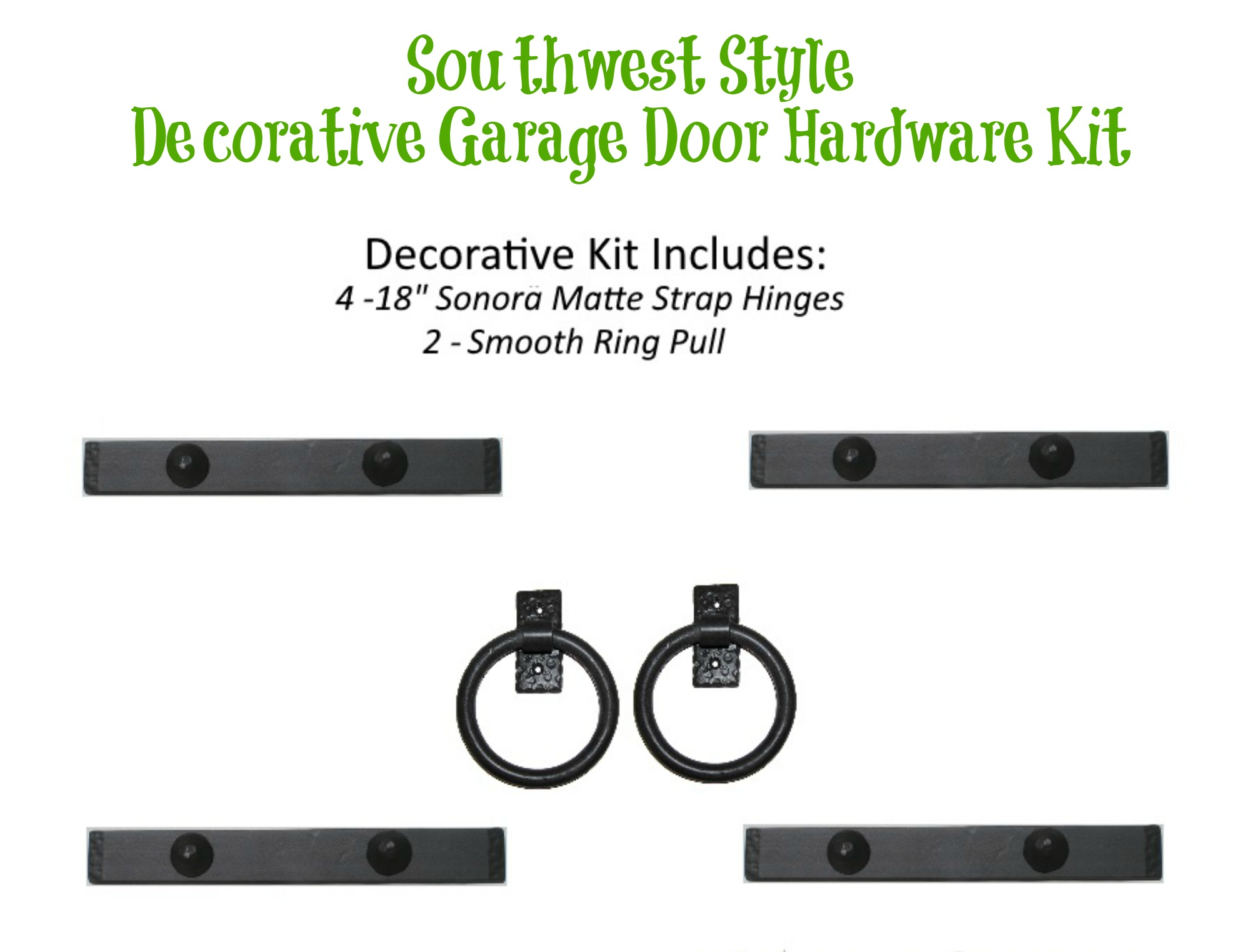 Beau Southwest Style Decorative Garage Door Hardware Kit