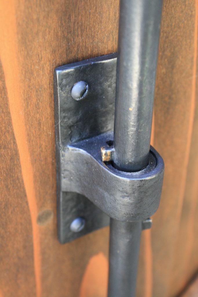Close Up of Coastal Bronze Cane Bolt for double gates