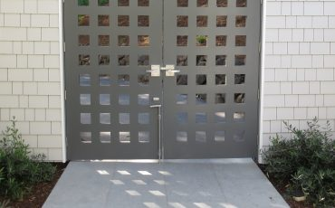 Custom double gate by russell fong with 360 yardware gate hardware
