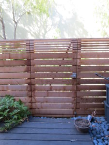 Horizontal Fence Gate with Alta Lever Latch