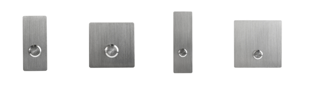 Brushed Stainless Steel Modern Doorbell Buttons