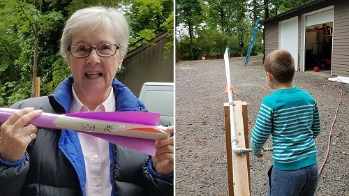 DIY Rocket Activity for Families