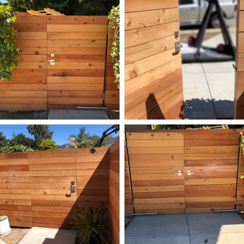 360 Yardware's Alta Stainless Steel Contemporary Modern Gate Latch installed by Malmin Construction