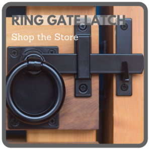 Contemporary Ring Gate Latch