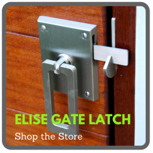 elise modern stainless steel gate hardware