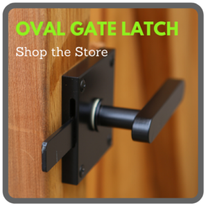 oval contemporary gate latch