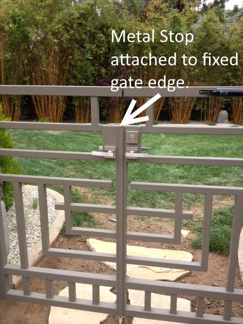Metal gate stop