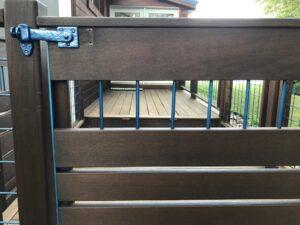 Dark bronze lockable flip gate latch 50-420 by Coastal Bronze