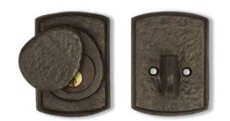 Bronze gate deadbolt for thick doors