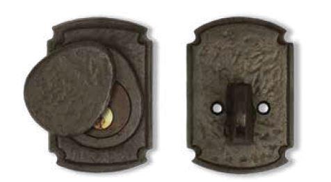 Bronze gate deadbolt