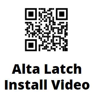 Alta Contemporary Lever Gate Latch QR Code Installation Instruction