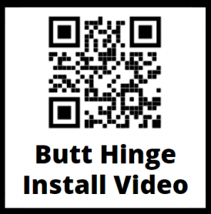 Butt Hinge QR Code Installation Instruction