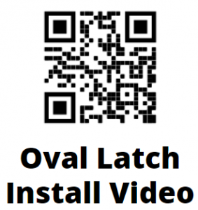 Oval Contemporary Lever Gate Latch QR Code Installation Instruction