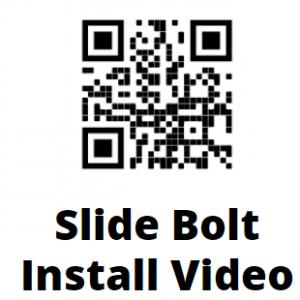 Slide Bolt QR Code Installation Instruction