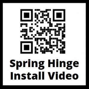 Spring Hinge QR Code Installation Instruction